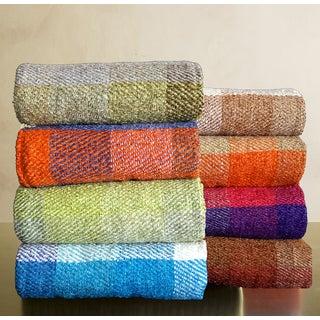 Plaid Design Cotton Chenille Throws