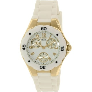 Invicta Women's Angel 18796 White Rubber Quartz Watch