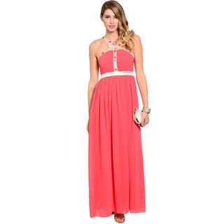 Shop The Trends Women's Sleeveless A-line Maxi Dress