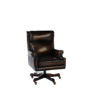 Clinton Leather Office Chair by Lazzaro Leather