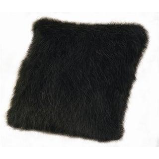 18-inch Faux Fur Black Mink Pillow
