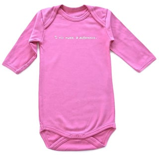 'I Will Make A Difference' Baby One-piece Pink Tagless Bodysuit