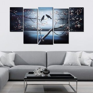 Together Forever Birds' Canvas Oil Painting