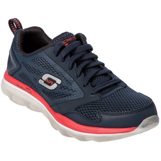 Skechers Men's Contrast Foxing Air Outsole Lace Up Sneakers