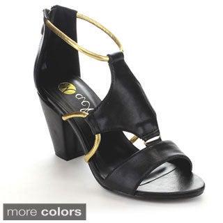 Machi Women's JL-SORTI-1 Basic Back Zipper Chunky Heels