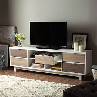 Furniture of America Dekisa Contemporary 2-Tone TV Stand