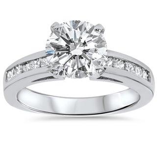 Bliss 14k White Gold 2 1/2ct TDW Clarity Enhanced Diamond Engagement Ring (H-I, I2-I3)