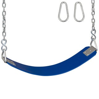 Swing Set Stuff Polymer Belt Swing Seat with Chains and Hooks