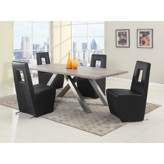 Christopher Knight Home Charlotte Dark Oak Criss-Cross Dining Table