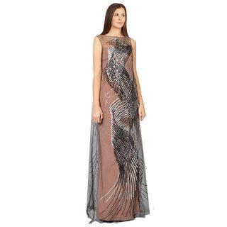 Carolina Herrera Women's Crepe Swirl Strapless Tulle Evening Gown