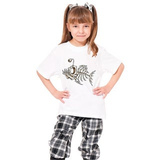 Youth White 'Fish Skeleton' Print Cotton T-shirt
