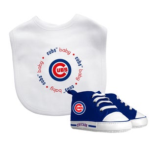 Baby Fanatic Chicago Cubs Bib and Pre-walker Shoes Gift Set