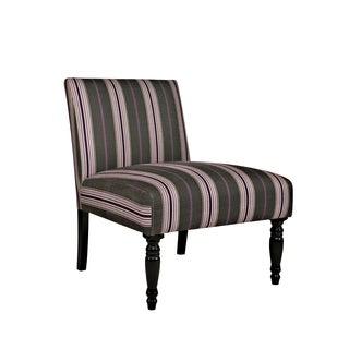 Portfolio Niles Grey and Plum Stripe Armless Chair