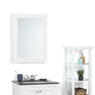 WYNDENHALL Carlyle White Bath Vanity Decor Mirror