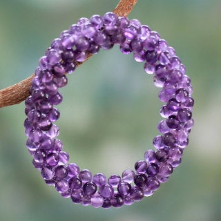 Handcrafted Amethyst 'Love Song' Bracelet (India)