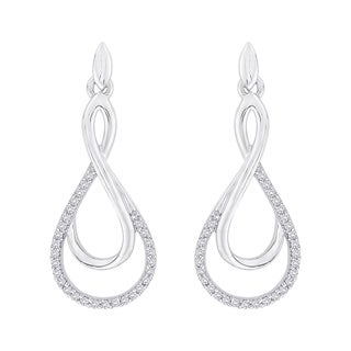 10k White Gold 1/4ct TDW Diamond Fashion Earrings (G-H,I2-I3)