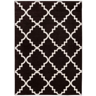 Well-woven Bright Trendy Twist Iron Trellis Lattice Red, Blue, Black, Ivory, Yellow Moroccan Geometric Area Rug (7'10 x 10'6)