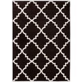 Well Woven Bright Trendy Twist Iron Trellis Lattice Red Blue Blaxk Ivory Polypropylene Area Rug (7'10 x 10'6)