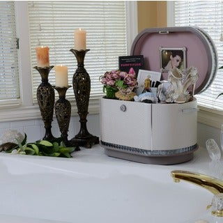 Pearlized Cream Quilted Glamour Life Chest