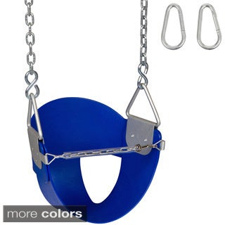 Swing Set Stuff Highback 1/ 2 Bucket Swing Seat with Chains and Hooks