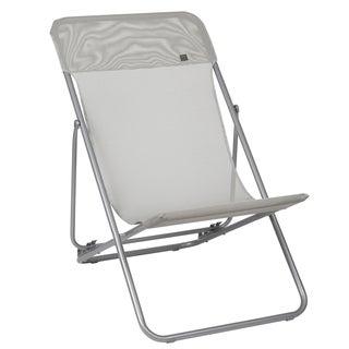 Maxi Transat Grey Folding Sling Chair (Set of 2)