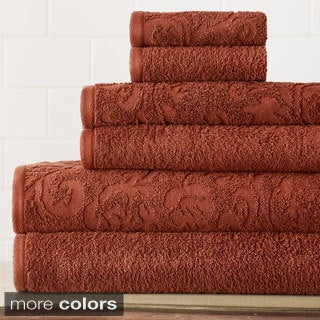 6-Piece Jacquard Damask Towel Set