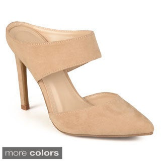 Journee Collection Women's 'Bluebell' Pointed Toe Mule Heels
