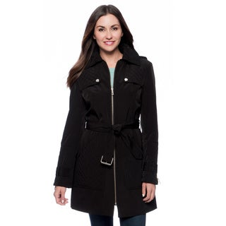Kenneth Cole NY Women's Black Quilted Trench Coat