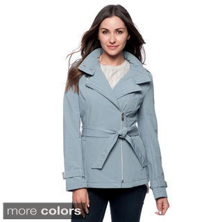 Kenneth Cole Reaction Asymmetrical Softshell Jacket