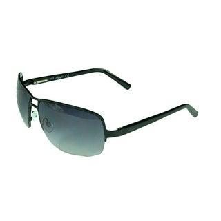 Kenneth Cole Reaction Shiny Black Aviator Sunglasses