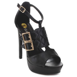 MACHI JL-JOVERA Women's Classic Platform Peep Toe Heels