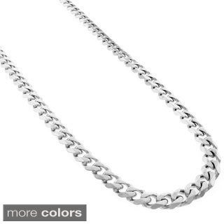 Stainless Steel 5 mm Cuban Chain Necklace
