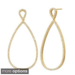 14k Gold 1 1/5ct Diamond Pear Shaped Dangle Earrings