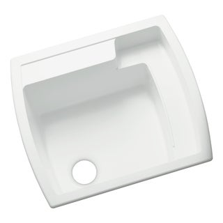 Latitude 22 inch x 25 inch Vikrell White Self-Rimming Utility Sink
