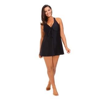 Black Tie Front Swimdress