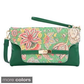 Mellow World Eden Floral Print Clutch Handbag