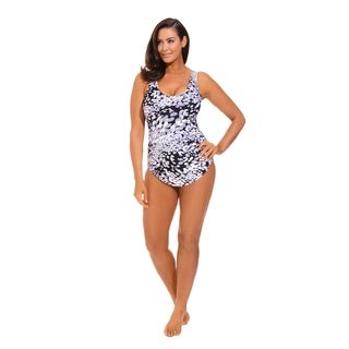 Dew Drops Sarong Front Swimsuit