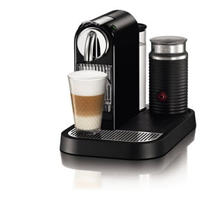 Nespresso D121-US4-BK-NE1 Black Citiz Espresso Maker with Aeroccino Milk Frother
