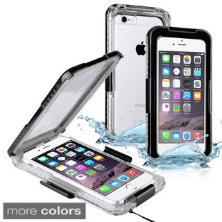 Insten Plain Hard Snap-on Waterproof Phone Case Cover Lanyard For Apple iPhone 6