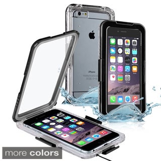 Insten Plain Hard Snap-on Waterproof Phone Case Cover Lanyard For Apple iPhone 6 Plus