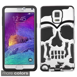 Insten Design Pattern Skullcap Hard PC/ Silicone Dual Layer Hybrid Rubberized Matte Phone Case Cover For Samsung Galaxy Note 4