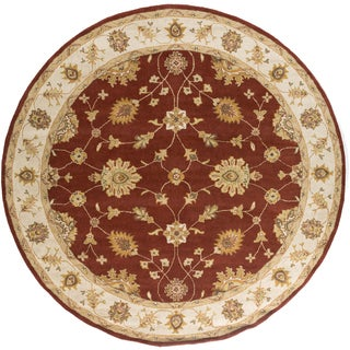 Artistic Weavers Hand-Tufted Wigan Border Wool Rug (6' Round)