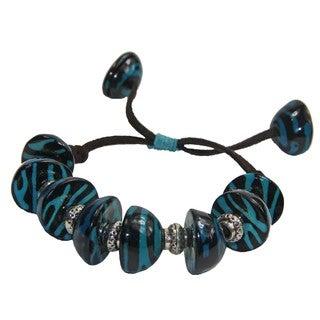 Blue Bombona and Acai Seed Adjustable Bracelet (Colombia)