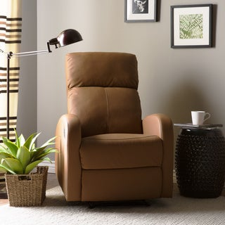 Furniture of America Carmona Sleek Leatherette Recliner