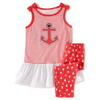 KHQ Infant Girl 2-piece Red Knit Capri Set
