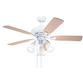 Kichler Lighting Traditional White 52 inch Ceiling Fan with 3-light Kit and Reversable Blades