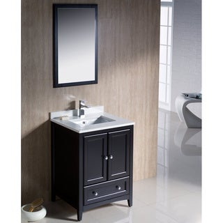 Fresca Oxford 24-inch Espresso Traditional Bathroom Vanity