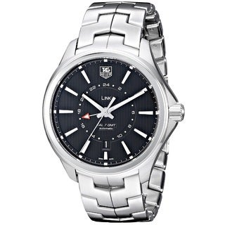 Tag Heuer Men's WAT201A.BA0951 'Link Calibre 7 GMT' Stainless Steel Watch