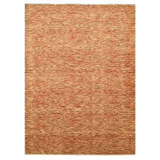 EORC 9314 Red Hand-knotted Wool Peshawar Area Rug (9'2 x 12')