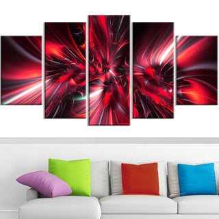 Design Art 'Red Implosion' Canvas Art Print
